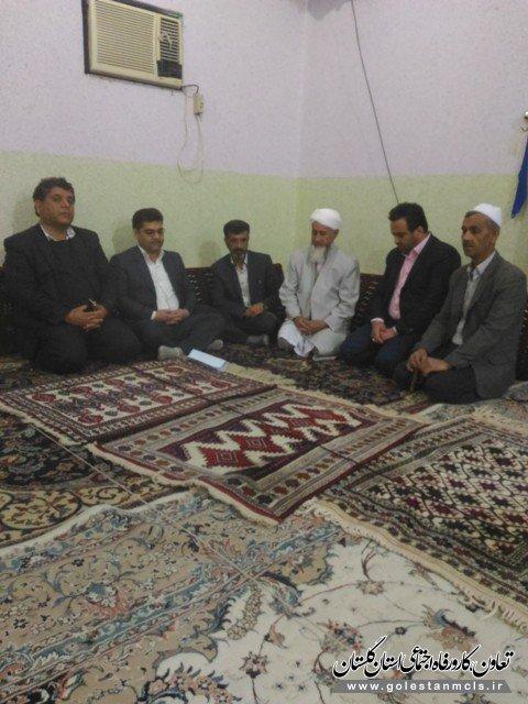 به مناسبت هفته وحدت انجام شد: دیدار سرپرست اداره تعاون کار رامیان با امام جمعه تاتار