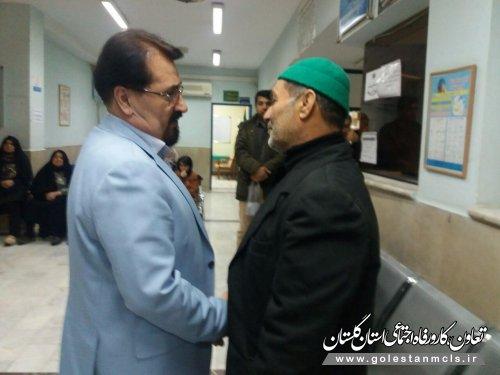 دیدار مردمی مدیر درمان گلستان در درمانگاه کردکوی