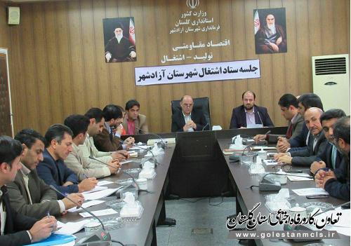 رئیس اداره تعاون کار آزادشهر خبر داد: تحقق 119 درصدی تعهد اشتغال در شهرستان آزادشهر