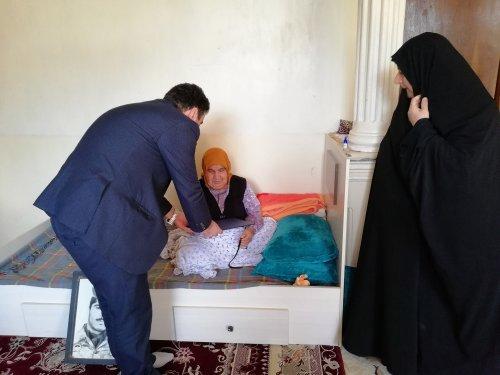 دیدارمدیرکل تعاون کار و رفاه اجتماعی گلستان با مادران شهدا