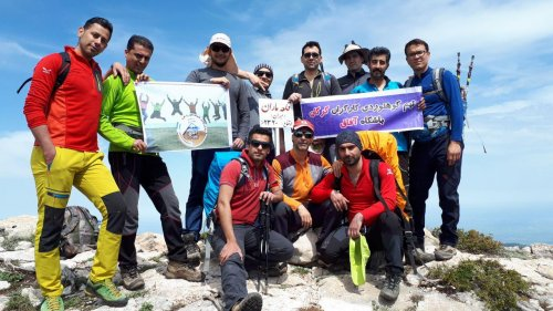 صعود تیم کوهنوردی کارگران گرگان به قله قلعه ماران