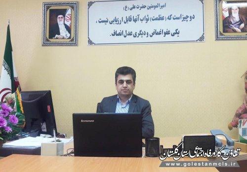سرپرست اداره تعاون،کار و رفاه اجتماعی گرگان: حمایت از کالای ایرانی، امنیت شغلی کارگران را تامین می کند