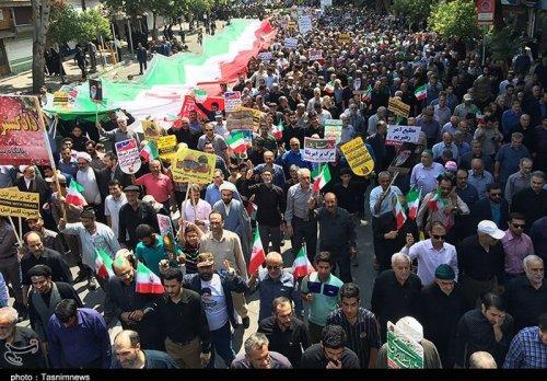 حضور خانواده بزرگ جامعه کارو تلاش گلستان در راهپیمایی روز قدس