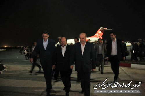 وزیر تعاون، کار و رفاه اجتماعی وارد گلستان شد