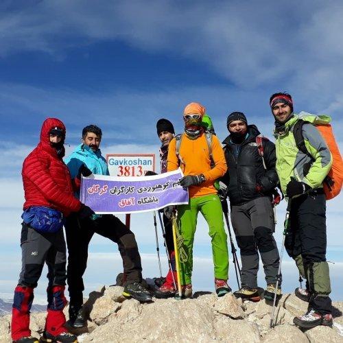 صعود کوهنوردان کارگر گلستان به قله گاوکشان