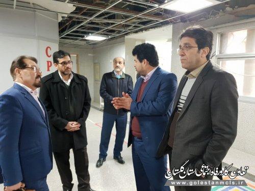 بازدید مدیر درمان استان از بیمارستان تامین اجتماعی گنبد کاووس