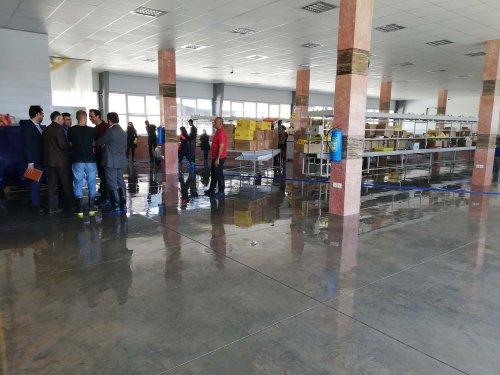 بازدید مدیرکل تعاون، کار و رفاه اجتماعی گلستان از واحدهای سیل زده شهرک صنعتی آق قلا