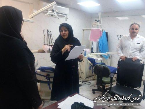 بازدید کارشناسان حوزه درمان از مراکز درمانی تامین اجتماعی استان