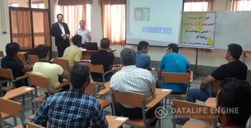 کارگاه آموزشی ایمنی و بهداشت کار ویژه کارگران ساختمانی در بندرگز برگزار شد