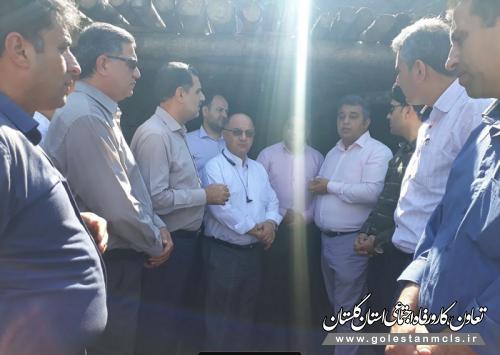 بازدید اعضای کمیسیون کارگری آزادشهر از معدن شرق کلات