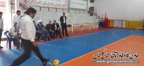 مسابقات ورزشی تعاونگران شهرستان کلاله برگزار شد