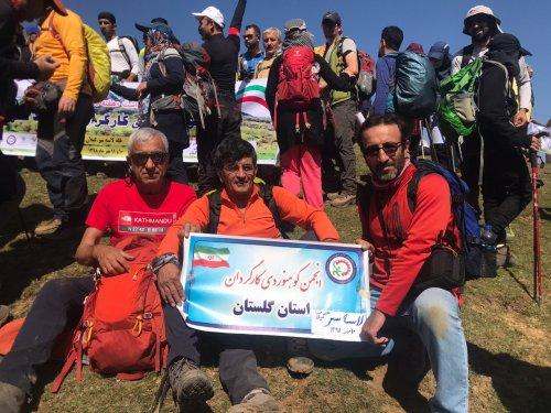 صعود موفقیت آمیز کوهنوردان کارگر گلستانی به قله لاسه سر