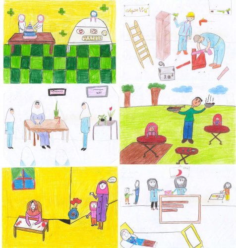 """نقاشی های ارسالی دانش آموزان دبستان جهان دانش به مناسبت هفته کارآفرینی با موضوع """"شغل آینده"""""""